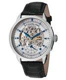 Price Stuhrling Original Executive Automatic Men S Black Leather Strap Watch 133 33152 Online Singapore