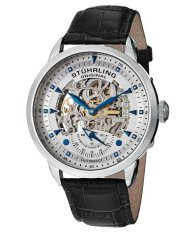 Best Rated Stuhrling Original Executive Automatic Men S Black Leather Strap Watch 133 33152