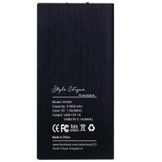 The Cheapest Style Clique Sc001 Ultra Slim 21800Mah Power Bank Black Online