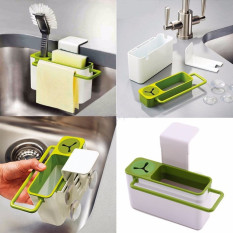 Coupon Suction Cup Base Kitchen Brush Sponge Sink Draining Towel Rack Washing Holder Bathroom Shelves Dish Cloth Holder Ht198