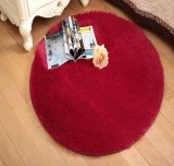 Top Rated Super Soft Solid Color Carpet Floor Rug Living Room Mat Area Rug Round Red