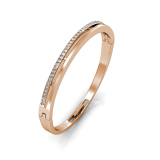 Review Elegant Bangle Rose Gold Crystals From Swarovski® Her Jewellery