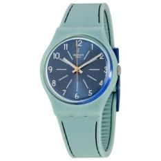 Price Compare Swatch Women S Blue Stitch Silicone Strap Watches Gm184