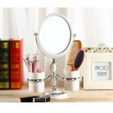 Discount Table Top Mirror Magnify 3X Double Side With 2 Storage Containers Singapore