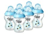 Tommee Tippee Closer To Nature 6 X 260Ml Blue Decorated Baby Bottles 70 Off For Sale