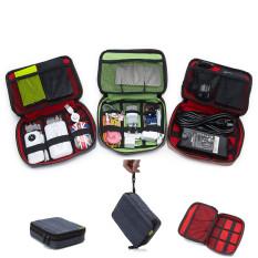 Travel Organizer Storage Collection Case Pouch Digital Gadget Bag Blue Coupon Code