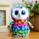 Latest Ty Big Eyes Beanie Boos Kids Plush Toys Colorful Owl Lovely Children S Gifts Kawaii Cute Stuffed Animals Dolls Christmas Present