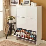 Review Ultra Slim Minimalist Shoe Cabinet 3 Doors Double Shelf Singapore