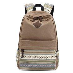 List Price Unisex Canvas Sch**L Backpack Khaki Oem