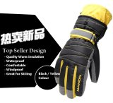 Sale Unisex Warmth Waterproof And Windproof Winter Gloves Black Yellow L Size None On Singapore
