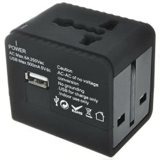 Universal Travel Adapter Dual Usb 2 1A Charger Uk Us Eu Au Socket Reviews