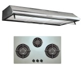 Price Uno Up1090C Stainless Steel Slim Line Hood Up7088Tr Stainless Steel 3 Burner 1Yr Warranty Uno