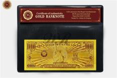 US America Gold Banknote $1 Million 99.9 Gold Foil Dollar Free COA Folder