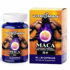 Vitroman Maca Pure Maca Root Tongkat Ali Combination Maca Root Extract Supplement From Peru Natural Pills To Support Reproductive Health Energy Potent Stamina Booster Discount Code