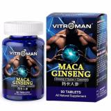 Vitroman Maca Ginseng Pure And Potent Male Enhancement Pills Natural Ginseng And Maca Root Powerful Testosterone Booster Helps Build Muscle Enhance Energy Boost Immune System Health Supplement Deal