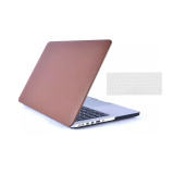 Review Welink 2 In 1 Apple Macook Pro 13 With Retina Case Leather Hard Case For Leatherette Soft Touch Snap On Shell Cover Laptop Folio Skin Sleeve Keyboard Cover For Macbook Pro 13 With Retina Brown Welink