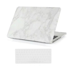 Top Rated Welink 3 In 1 Apple Macbook Pro With Retina 13 Case Marble Pattern Hard Case Anti Dust Plug Keyboard Cover For Apple Macbook Pro With Retina 13 White
