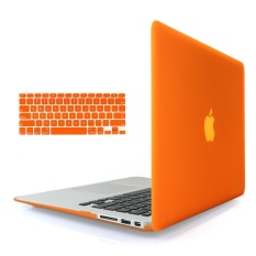 Welink 3 in 1 Matte Apple MacBook Air 13 Case / Soft-Touch Plastic Hard Case Cover + Anti-dust Plug + Keyboard Cover for Macbook Air 13 [ Models: A1369 / A1466 ] (Orange)