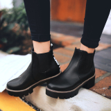 Who Sells The Cheapest Woman Martin Waterproof Boots Women Shoes High Quality Motorcycle Boots Ankle Boots Women Elastic Boots Black Online