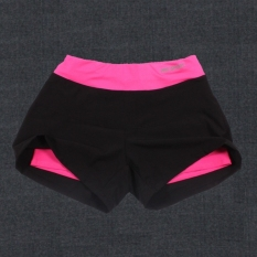 Retail Woman Sports Shorts Running Fitness Slimming Bodybuilding High Waist Gym Running Quick Dry Loose Short Pants Hot Pink
