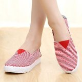 Best Deal Women G*rl S Summer Fashion Stripe Lazy Shoe Flat Shoe Colorful Housewear Students
