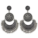 Coupon Women Jewelry Chandelier Earrings Antique Gold Silver Big Geometric Ethnic Statement Earrings Fashion Accessoriesi¼ˆancient Silveri¼‰ Export