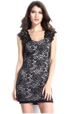 Buy Women S S*xy Gorgeous Stretch Flowery Pattern Lace Floral Vintage Dress Black Export Online China