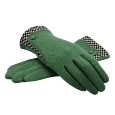 Price Comparisons Women S Winter Warm Cashmere Gloves With Stitching Plaid Cuff Intl