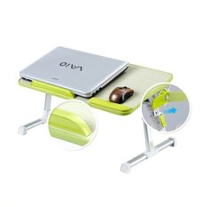 Xgear A8 Foldable Portable Laptop Notebook Desk Bed Table Stand Fan Green Coupon