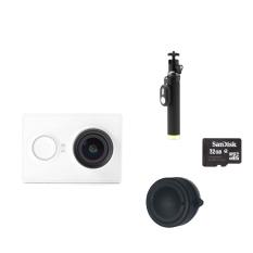 Promo Xiaomi Xiaoyi 16Mp Sports Camera Yi Monopod Lens Cover 32Gb Tf