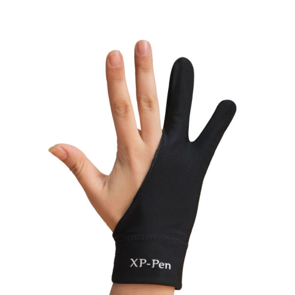 XP-Pen Professional Artist Anti-fouling Lycra Glove for Graphics Drawing Tablet Graphic Monitor Suitable for Right Hand and Left Hand M size(Black)