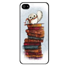 Y M White Bird On Books Printed Case For Iphone 5 Black Promo Code