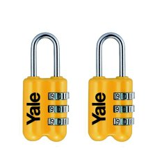 Buy Yale Luggage Lock Set Of 2 Yellow