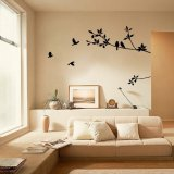 Discounted Yard Sell Tree Bird Large Room Decor Home Decals Diy Removable Wall Sticker