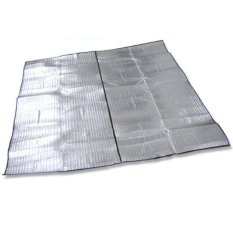 Yika Dampproof Mat Picnic Hiking Outdoor Pad Double Side Aluminum Film 200X250 cm (Silver)