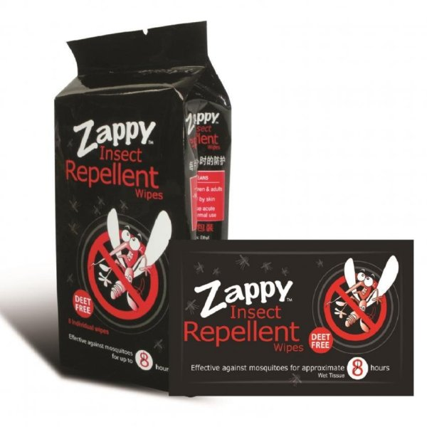 Buy Zappy Insect Repellent Wipes 8s (20 Packets) Singapore