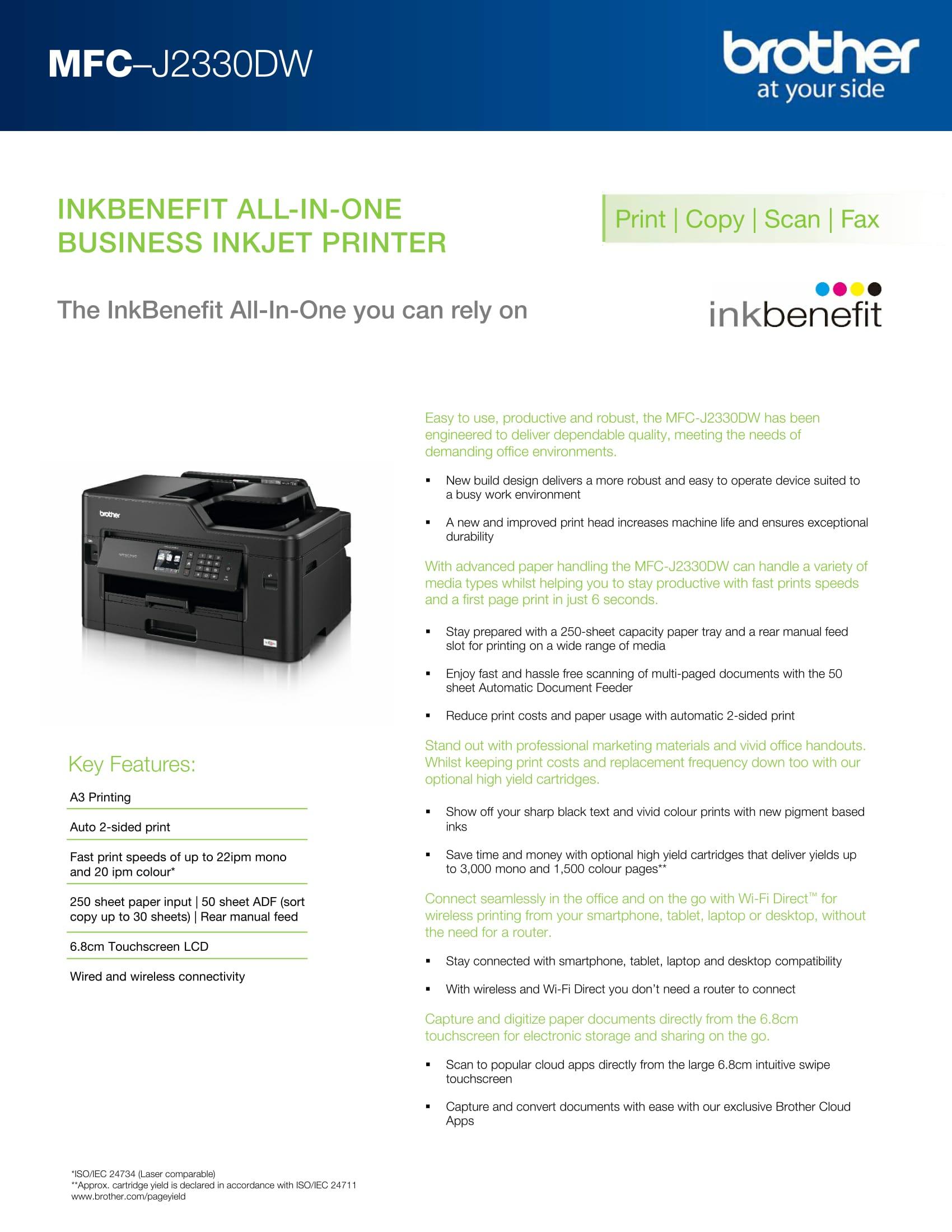 Brother MFC-J2330DW InkBenefit