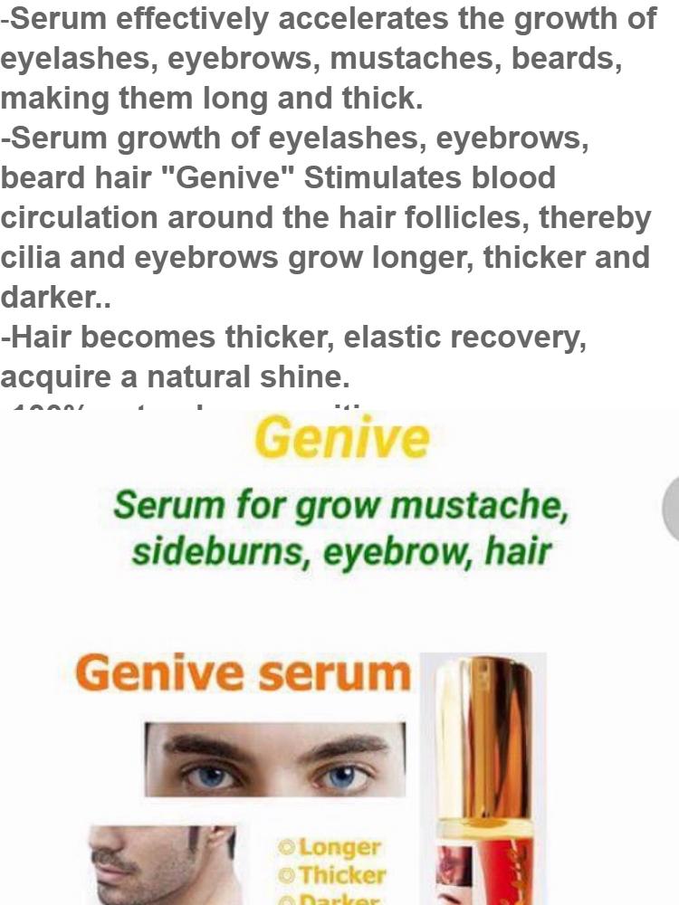 3db984a1f21 Genive Serum eyelashes , eyebrows , hair growth | Lazada Singapore