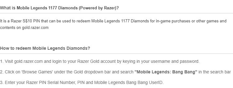 Mobile Legends - 1177 Diamonds