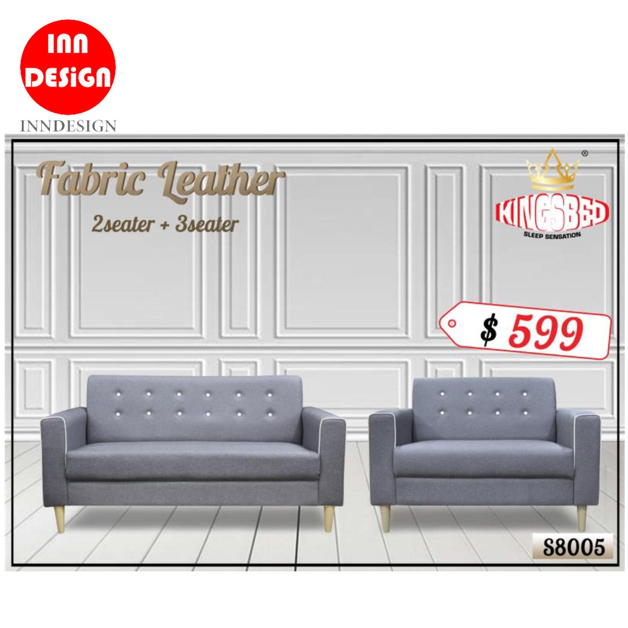 Seaters Fabric Leather Sofa