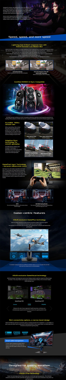 Asus VG278QR 27inch Full HD 1080p 165Hz 1ms DP HDMI DVI Eye Care Gaming  LED-Lit Monitor