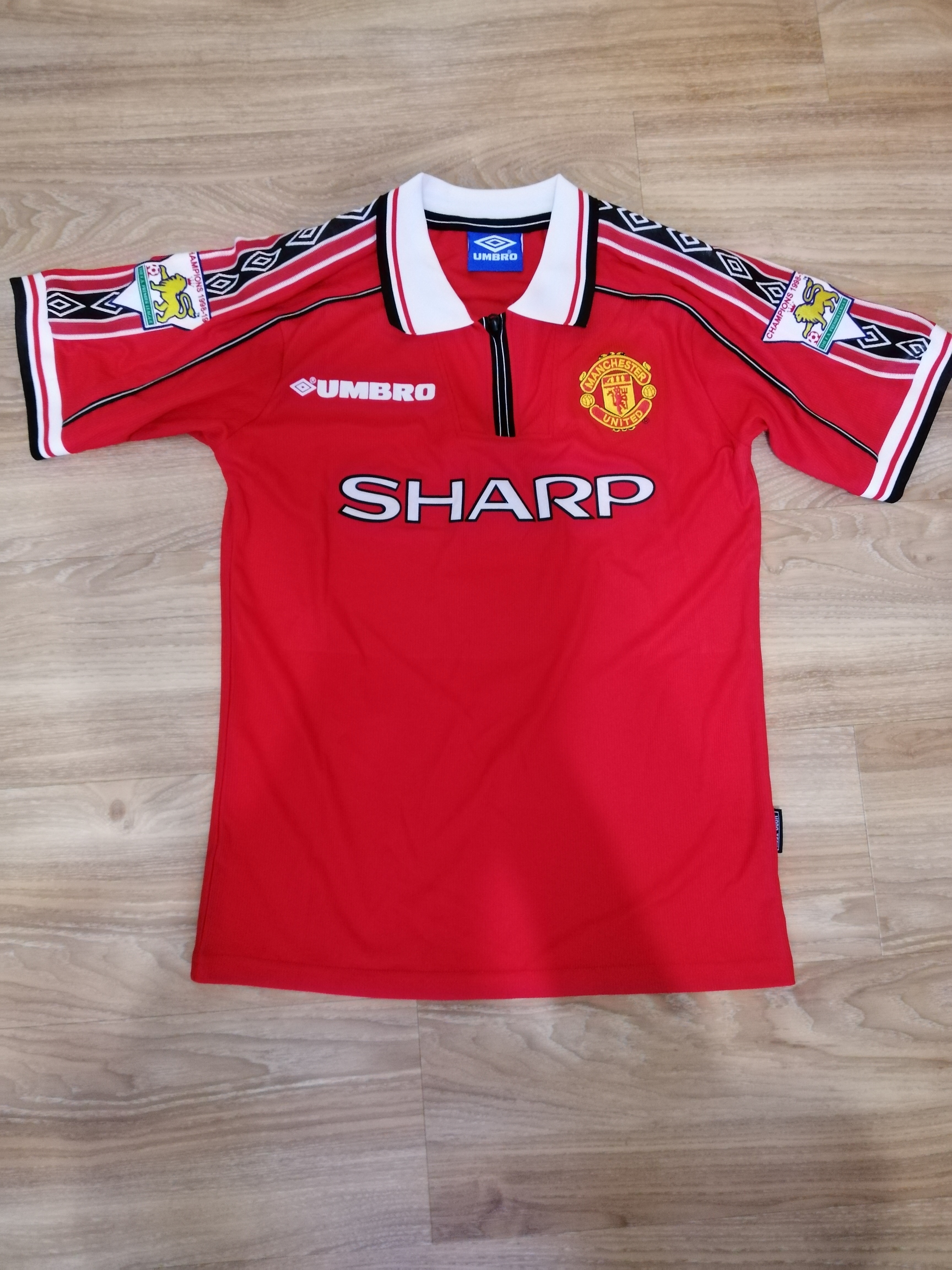 de1d7026b Product details of Manchester United Soccer Jersey Home Football Jersey  1998 1999