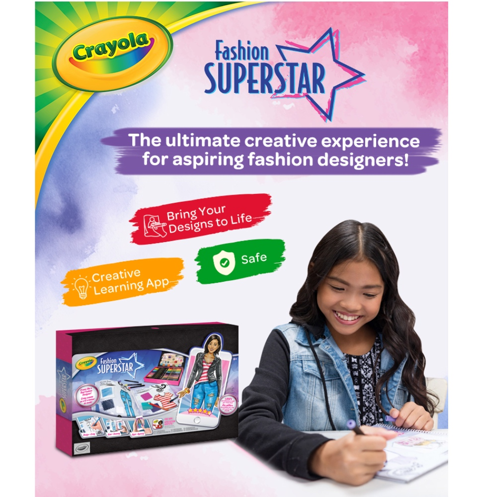 Crayola Fashion Superstar Coloring Book App Fashion Creative Great Toy Gift For Kids Kids Activity Set Age 8 Lazada Singapore