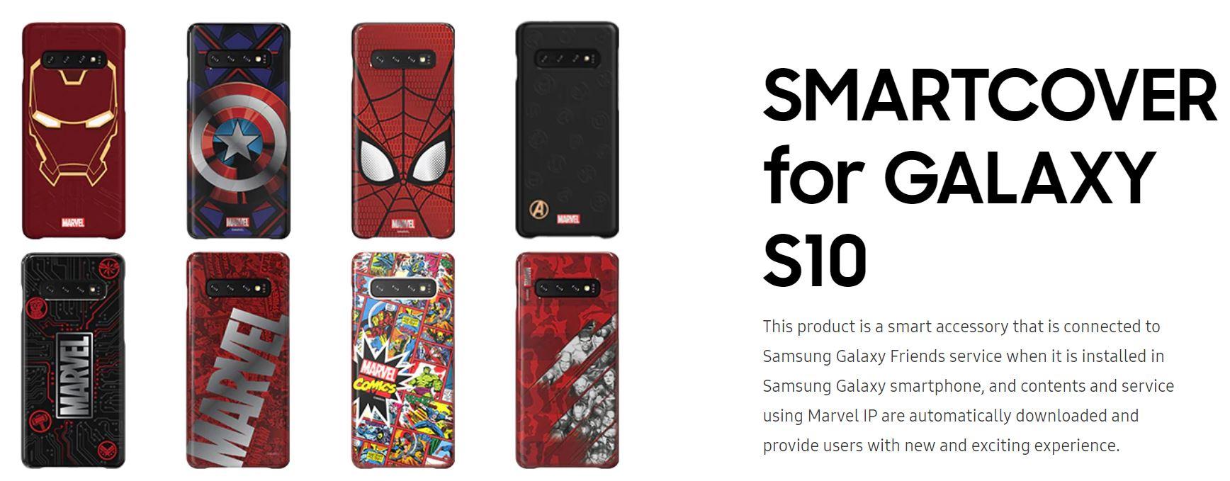 Samsung Galaxy Friend Marvel Smart Covers S10/S10+/S10e