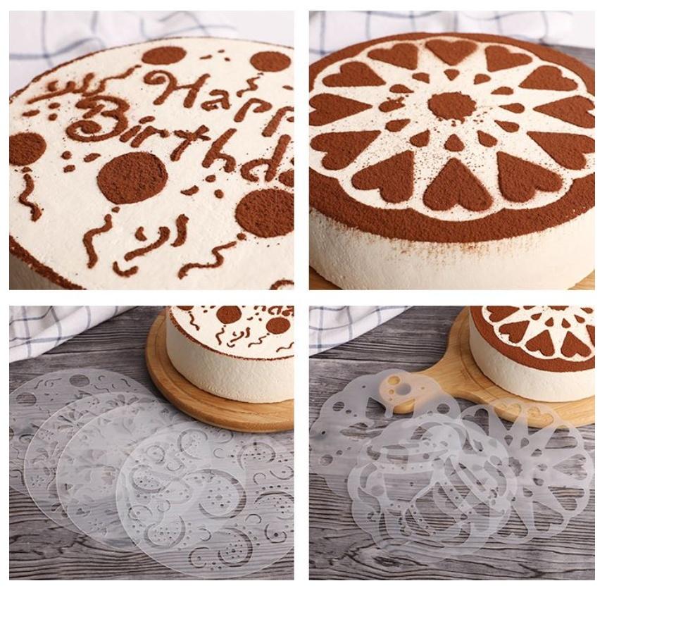 Awe Inspiring 6Pcs Set Cake Decorating Stencil Happy Birthday Cake Stencil Personalised Birthday Cards Vishlily Jamesorg
