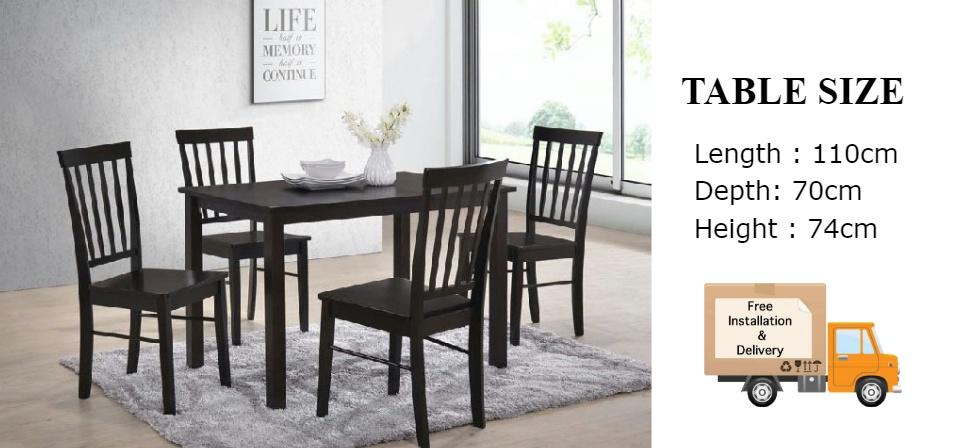 Furniture Amart Solid Wood Dining Set