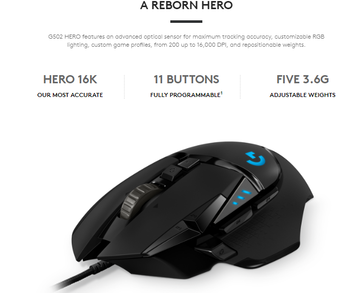 b609732db1e ... [Free Gift] Logitech G502 Hero (upgraded model of Proteus Spectrum RGB  Tunable) Gaming Mouse 100% Original with Logitech Singapore warranty  910-005472
