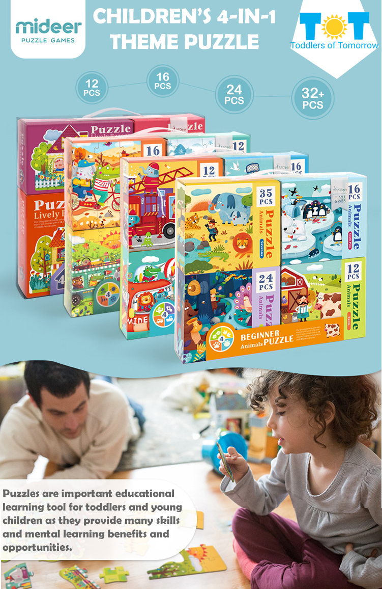 [SG Seller] Puzzles for Toddlers - Early Childhood Development /  Educational Jigsaw Puzzles for Birthday Christmas Fun Gift sets / MiDeer /  Ready