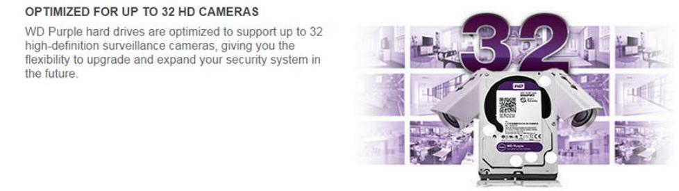 WD Purple Surveillance Hard Drive 3 5