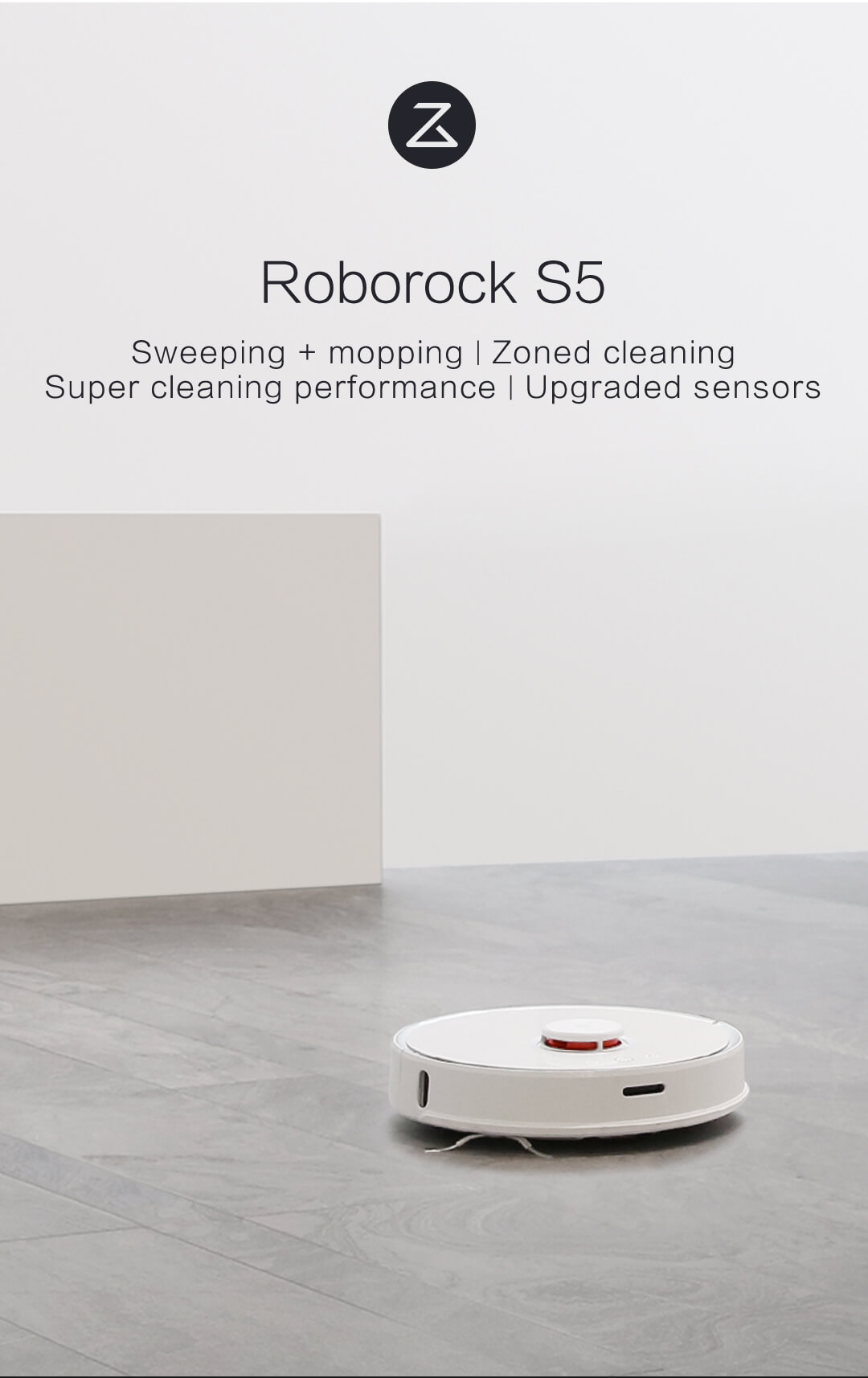 2019 New Xiaomi Roborock S5 Robotic Vacuum Cleaner Mijia Cordless Robot  International English Voice Assistance Sweeping Mopping Spin Mop Water Tank